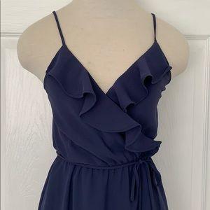 Gianni Bini faux wrap maxi dress- small